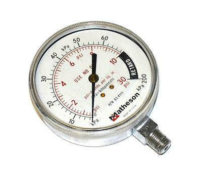 "Hydraulics, Pneumatics, Pumps & Plumbing Matheson 63-4111 0-30 Psi 0-200 Kpa Pressure Gauge 1/4"" Npt Bottom Mount Business & Industrial"
