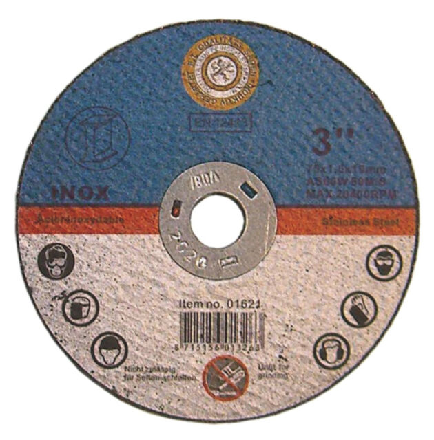75x1,6x10 mm Trennscheibe Edelstahl Metalltrennscheibe Druckluftwinkelsch 30 St