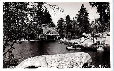 Bear Valley Ca >> Rppc Big Bear Valley Ca California Cedar Lake C1940s Postcard Ebay