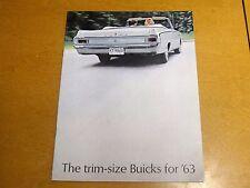 1963 Buick  Color Dealer Brochure THE TRIM SIZE BUICKS FOR '63 SKYLARK & SPECIAL