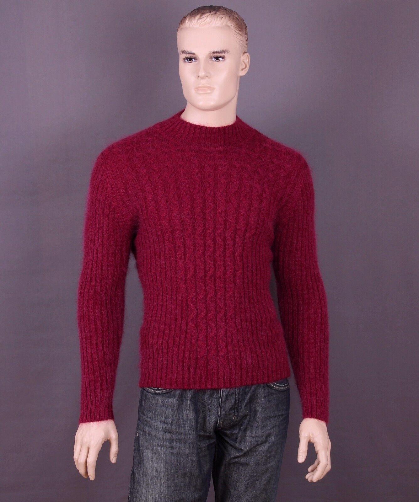 Mohair Pullover Farbe: bordeaux und Größe: M oder L (nach Wahl)