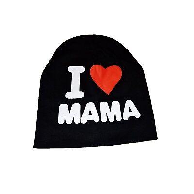 Wintermütze Kindermütze Mütze I Love Mama One Size Ich Liebe Mama NEU