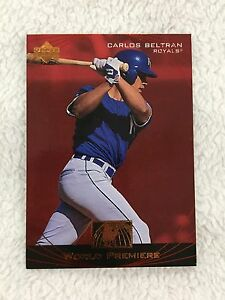 Details About Carlos Beltran Rookie Insert Upper Deck 1999 World Premiere Rc Baseball Card