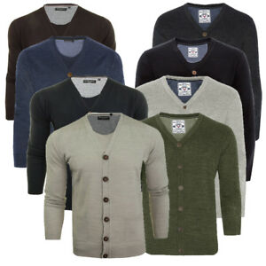 Mens-Brave-Soul-Ghazali-Light-Knitted-6-Button-Cardigan-Top