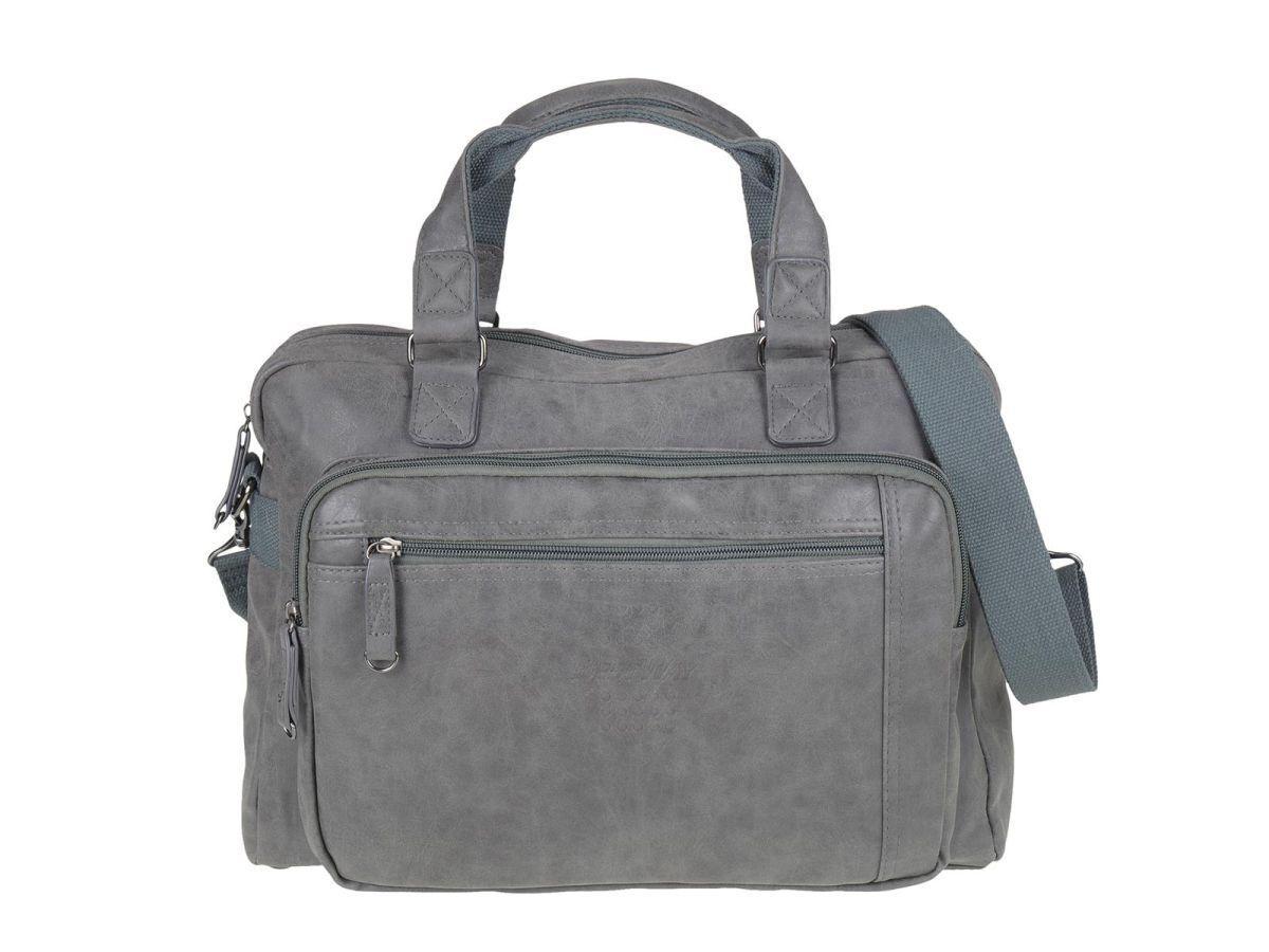 Business Tasche Herren Damen Schultertasche Umhängetasche Notebookfach Notebookfach Notebookfach grau    Fein Verarbeitet  3b411c