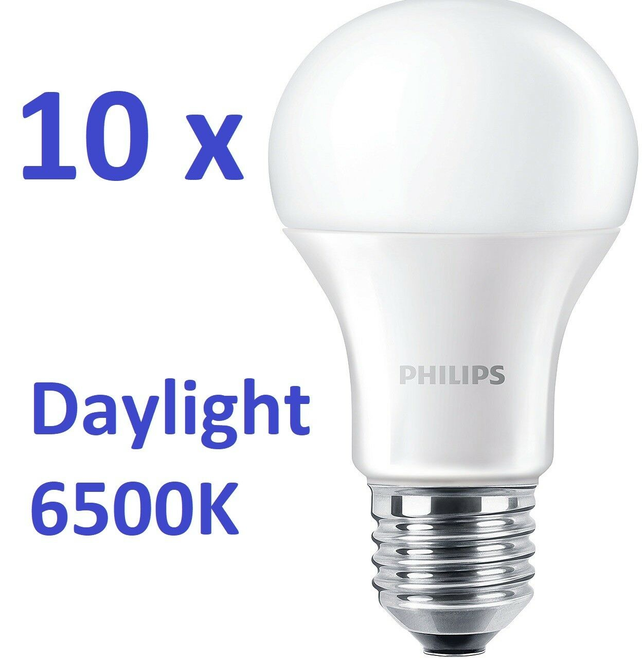 10 x Philips LED lámpara e27 bombilla 12,5w = 100w  la luz del día sabe  6500k Daylight
