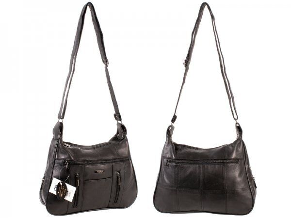 18dcb55c2c27 Lorenz Fabulous Genuine Full Real Leather Shoulder Bag Many Pockets Adj  Straps for sale online