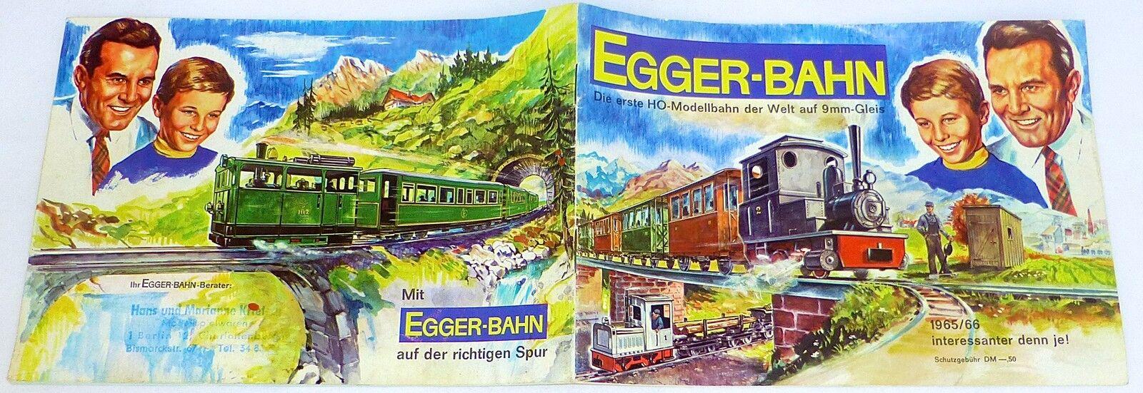 With egger Railroad auf der Law Scale Catalog 1965 1966 å