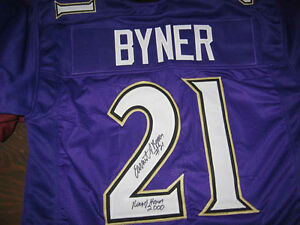 Details about Baltimore Ravens Earnest Byner signed Jersey W/COA with ROH inscription