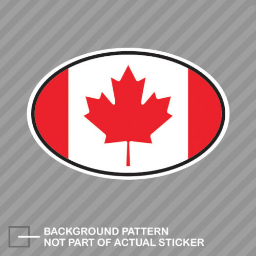 Canada Oval Sticker Decal Vinyl Canadian Country Code euro CA v7