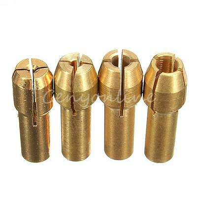 1 Set/4 pcs Brass Collet Adapter Nuts for   Rotary Tool 0.8/1.6/2.35/3.2mm