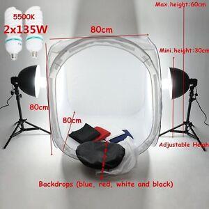 foto fotostudio lichtw rfel fotozelt lichtzelt 80 x80cm lichtkasten fotolampen ebay. Black Bedroom Furniture Sets. Home Design Ideas