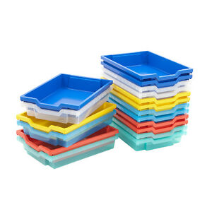 Merveilleux Image Is Loading Single Shallow Gratnells School Trays Plastic Storage  Boxes