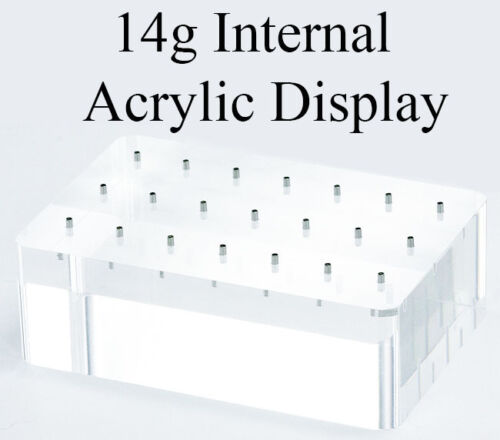 14g Internal Acrylic Display Solid Block with 21 Posts