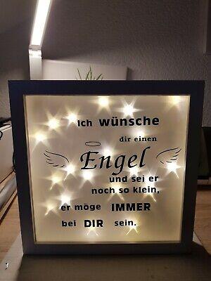Ribba Rahmen Bilderrahmen Mit Spruch Led Und Sternenfolie Ebay