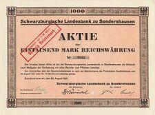 Schwarzburgische Landesbank zu Sondershausen 1921