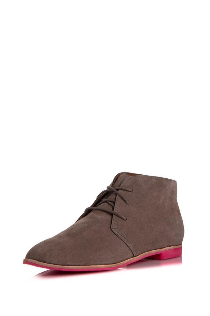 DV Dolce Vita Madge Bootie Taupe Suede Boot Lace-up Ankle tie Schuhes NEW Oxford