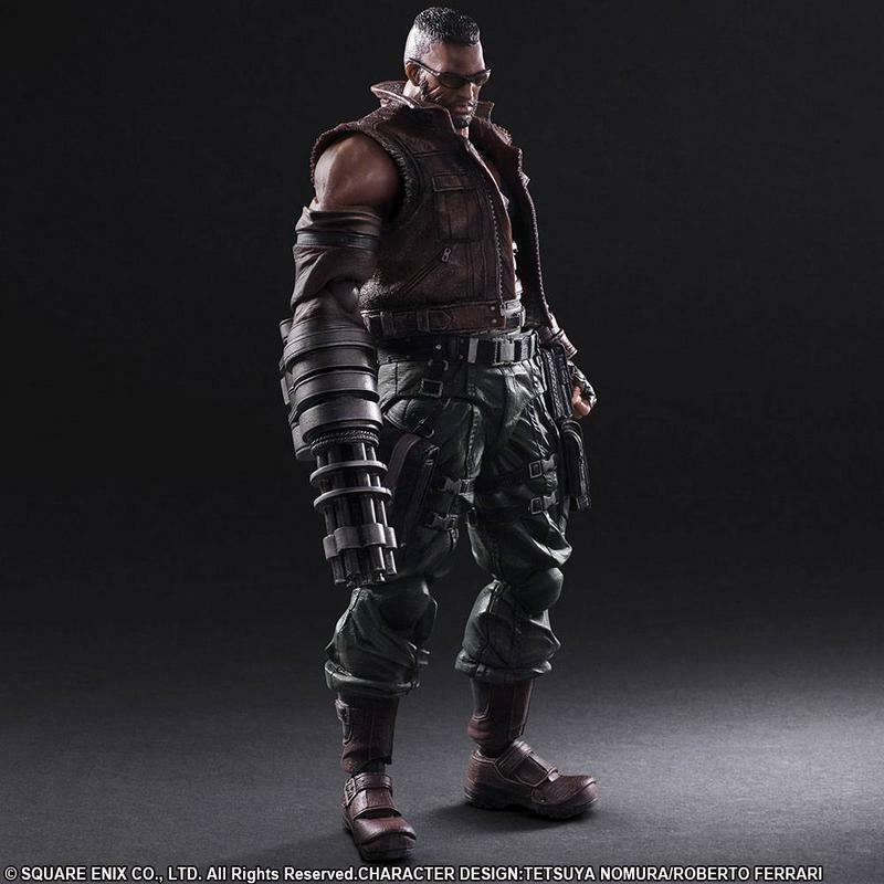 Final Fantasy VII Remake Play Arts Kai Figürchen No. 2 Barret Wallace 30cm