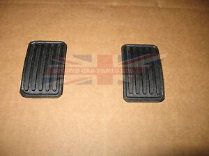 New Brake & Clutch Pedal Pad Set MG Midget 1962-1979 Austin Healey Sprite Bugeye