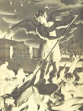PAINTING MILTON 1695 GOD DEVIL ANGELS 12 X 16 INCH ART PRINT POSTER HP2399