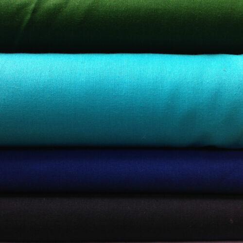 100/% Craft Cotton Fabric 16 colours 1//2 Meter 50cm  x150cm