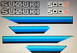 SUZUKI DR500 DR500S RESTORATION DECAL SET