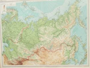 Details about Map of the Siberia. 1922. Russia. Mongolia. Lake Baikal. Ural  Mountains.