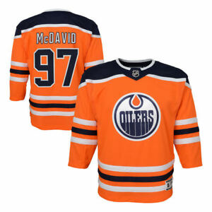 promo code 8cf65 3b459 Details about Toddler Ages 2-4T Edmonton Oilers Connor McDavid Premier  Crest Hockey Jersey