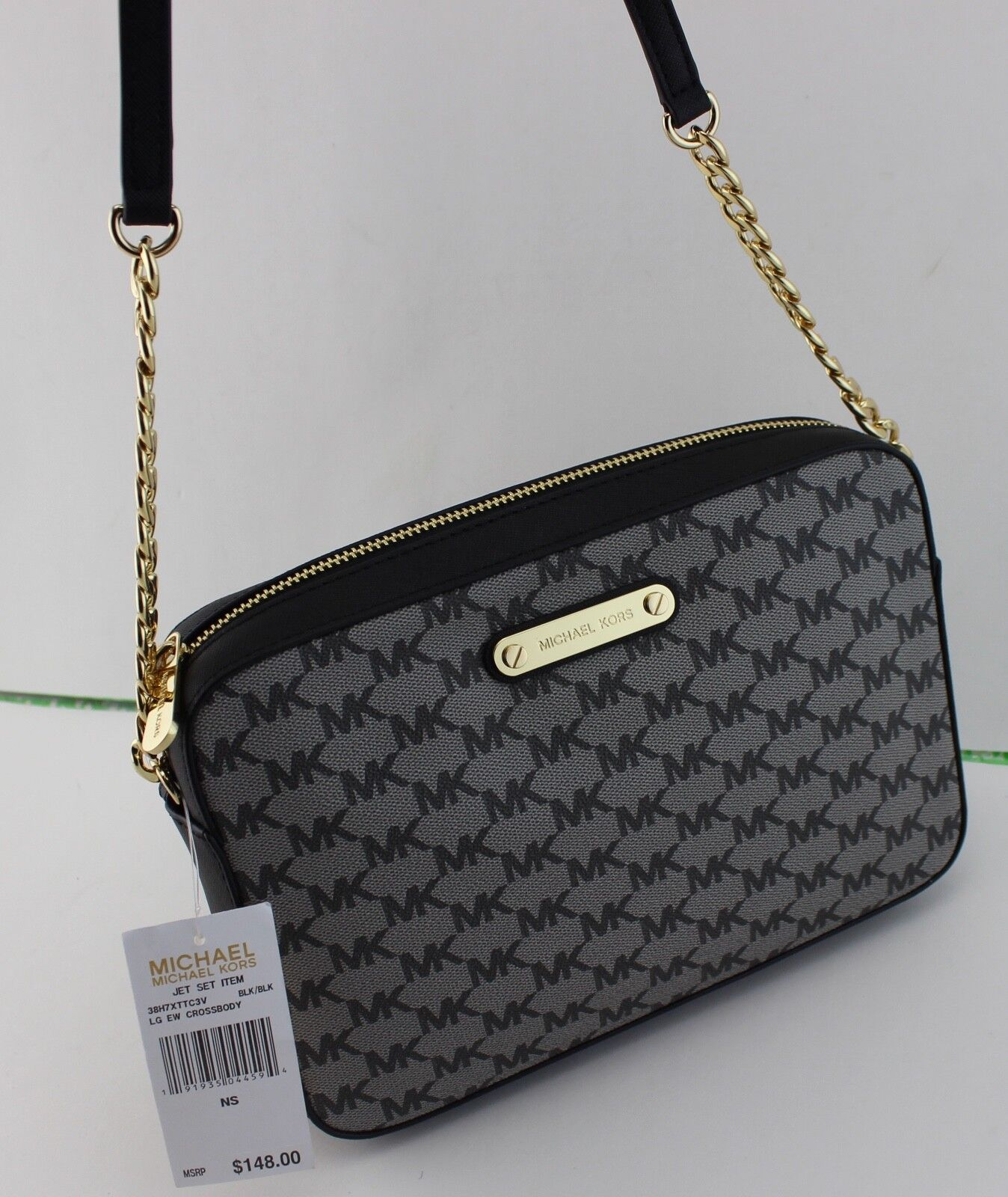 31030f6c44e0 Michael Kors Jet Set Large EW Crossbody 38h7xttc3v Black for sale ...