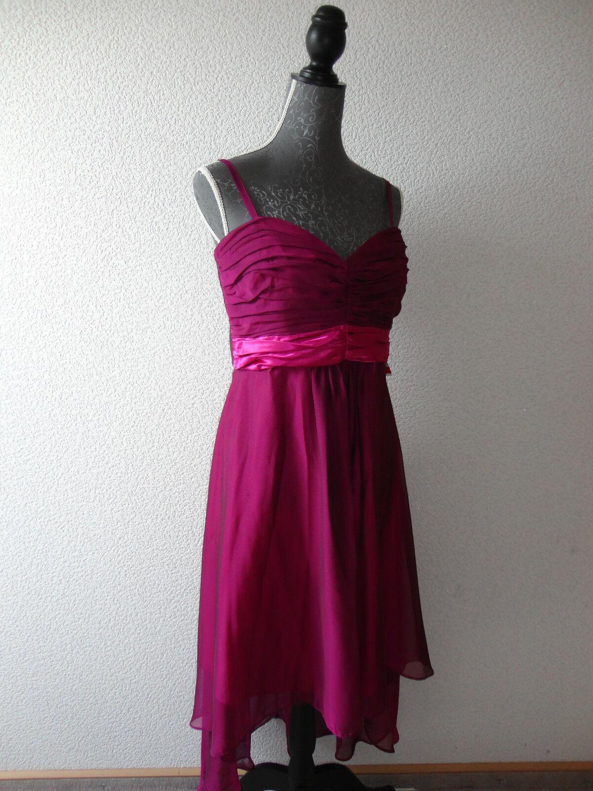 Neu Langes Abendkleid Traum-Kleid Hochzeit Kleid Gr.42 lila-dunkelRosa NEU