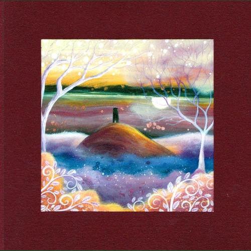 PAGAN WICCAN GREETING CARD Misty Lands GODDESS Nature GLASTONBURY AMANDA CLARK