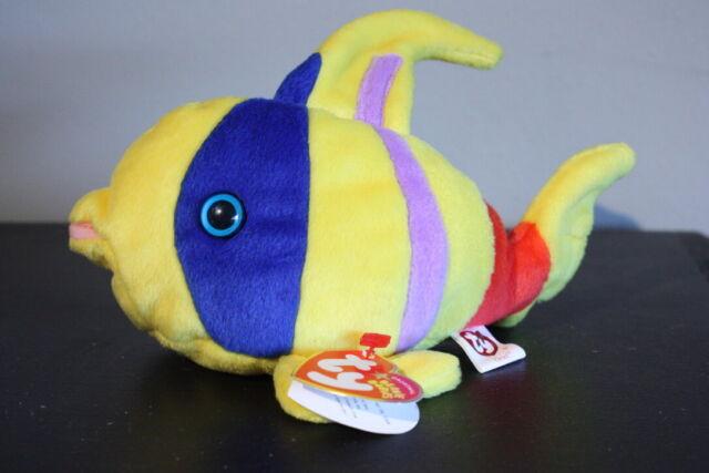 Ty Original Beanie Babies Oriel the Angel Fish Stuffed Animal Plush Retired NWWT