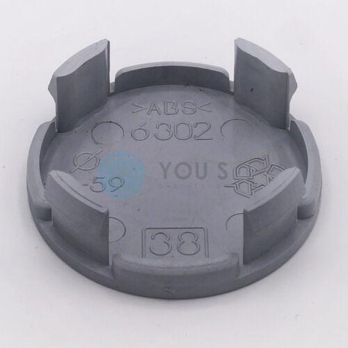 1 x tapa del cubo embellecedores llantas tapa 62,5-57,0 mm-plata-nuevo