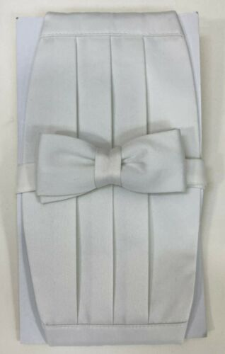 Kids Boys Teens Cummerbund and Bow Tie Set Solid,11 Colors 4-15 Year Old New
