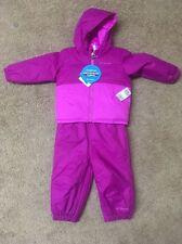 Columbia Toddler 2 Piece Snowsuit Twisty Cliff Set Coat Bib Overall Pink 12/18m