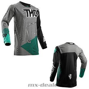 Thor-Pulse-Geotec-2018-tricot-jersey-noir-Teal-MX-MOTOCROSS-CROSS-ENDURO-BMX