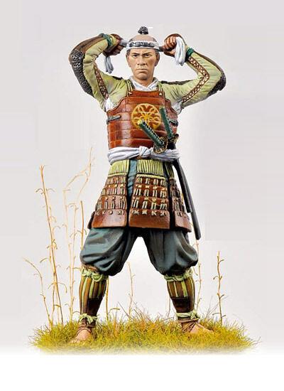 Andrea Miniatures Japanese Samurai Ashigaru circa 1600 75mm Model Unpainted kit