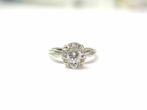 Fine Gorgeous Engagement Wedding Diamond Ring WG 14 KT