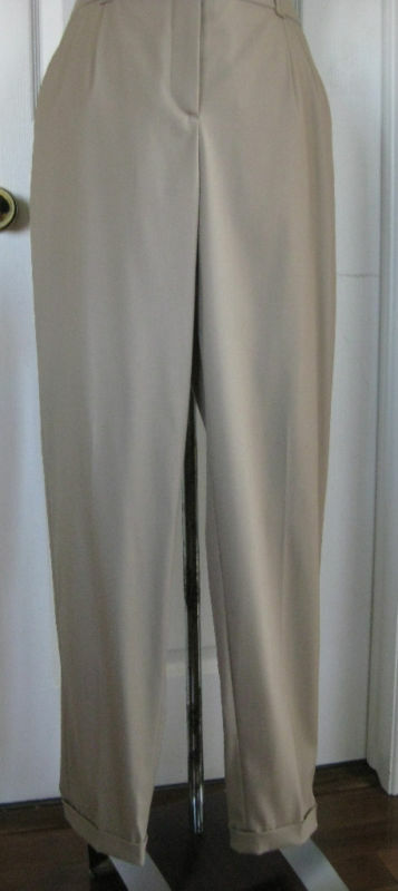 HUGO BOSS front pleat narrow leg cuffed trouser 6 NWOT