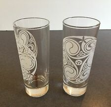 Set of 2 Irish Mist Liqueur Glasses Celtic Design Tumbler Collins Shamrock New