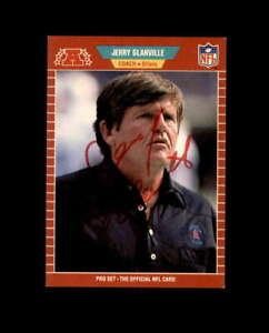 Jerry Glanville Hand Signed 1989 Pro Set Houston Oilers Autograph