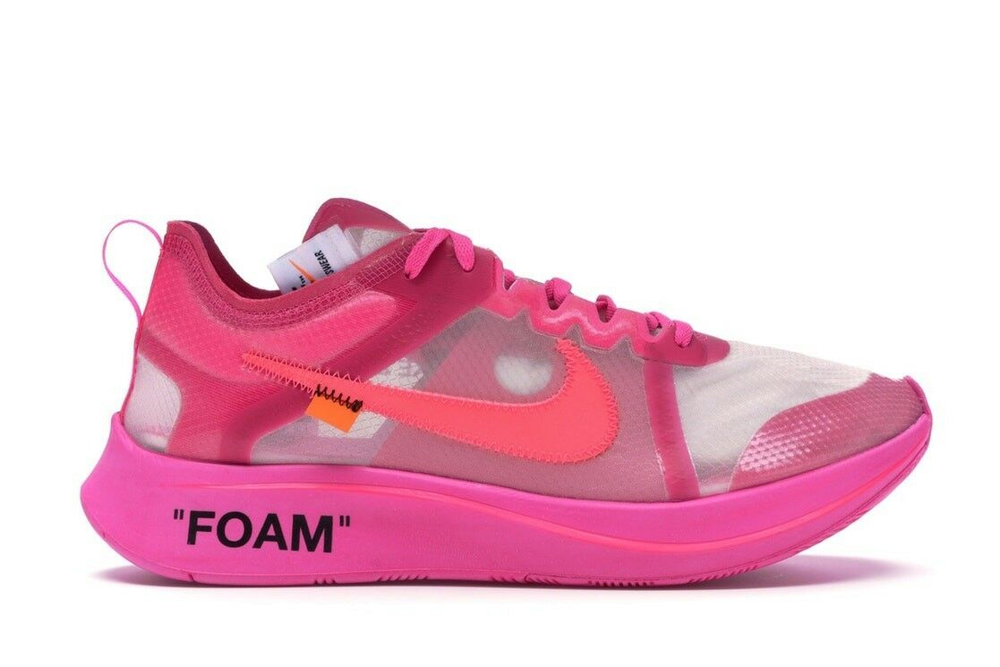 Nike Off-White Zoom Fly Racer Tulip Pink - Size US 11 UK 10 EU 45