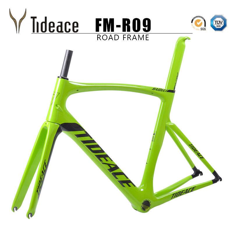 verde tideace t800 Cochebon fiber Road Racing bicycle frames OEM pf30 bike fotogramas