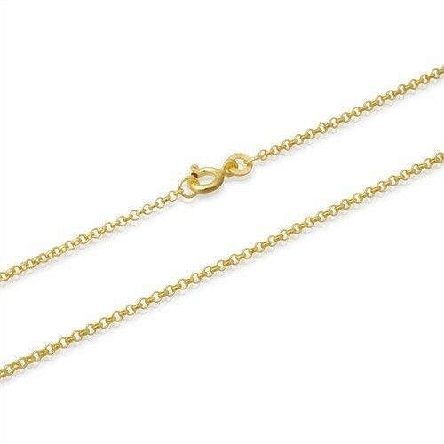 2mm 18K Gold Plated Sterling Silver 925 Italian BELCHER ROLO MARINE Link Chain