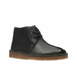 Clarks-Originals-Men-Desert-trek-Hi-Soft-premium-Black-Lea-UK-12-US-13-G