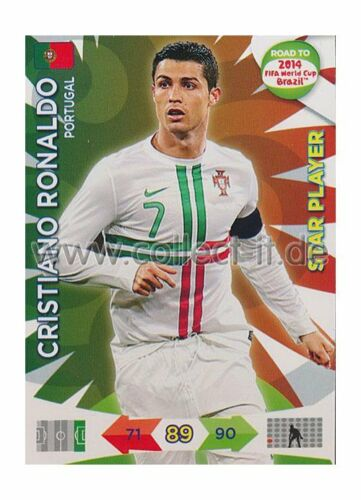 PANINI ADRENALYN ROAD World Cup Brazil 156-Cristiano Ronaldo-Star Player