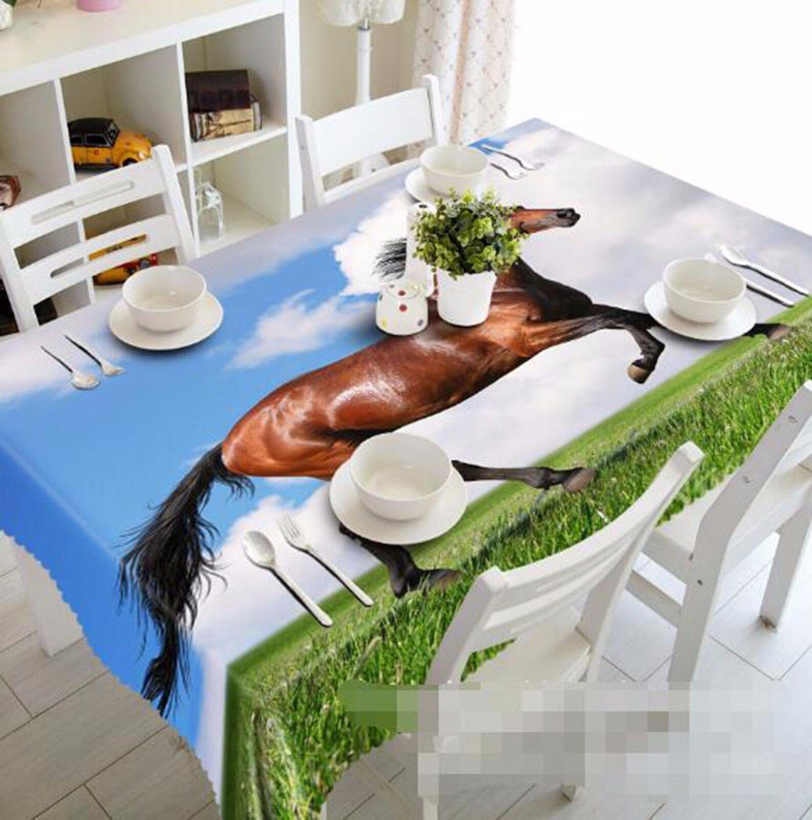 3D Horse 406 406 406 Tablecloth Table Cover Cloth Birthday Party AJ WALLPAPER UK Lemon d13263