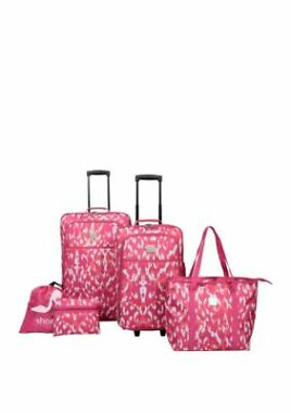 5-Piece Modern Southern Home Tie Dye Luggage Set