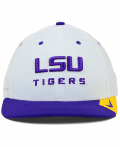 d35a871f7 Details about Nike Men's Dri-Fit LSU Tigers Conference LEgacy Stretch Fit  Cap Hat - NWT
