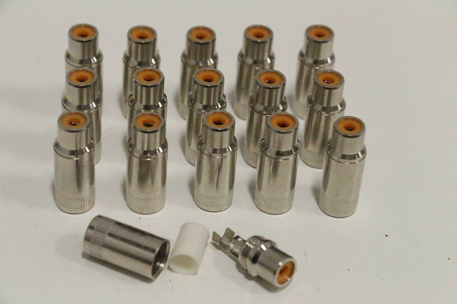 Lot of (16) SwitchCraft Mono Conductor Female RCA Panel Mount Jack